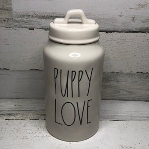 Rae Dunn PUPPY LOVE canister dog treats NEW